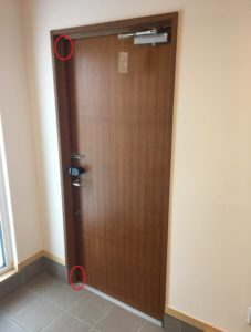 玄関ドア ガデリウスから漏気1