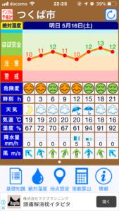 絶対湿度予報計 アプリ